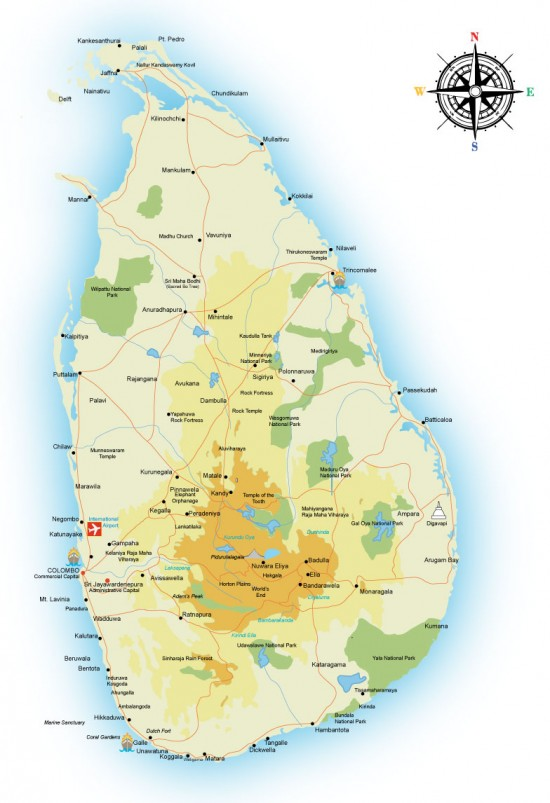 About Srilanka - Where is sri lanka located